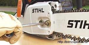 натяжение цепи Stihl 180