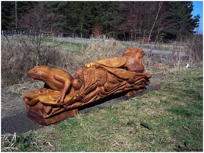 Фигурная резьба по дереву бензопилой -карвинг(Carving) Все о бензопилах