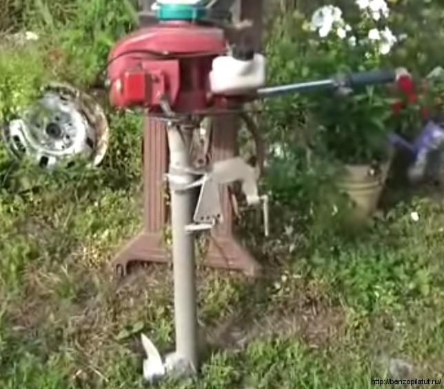 лодочный двигатель из бензопилы урал
