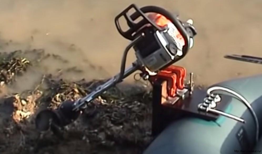 Как сделать лодочному мотор из бензопилы 12