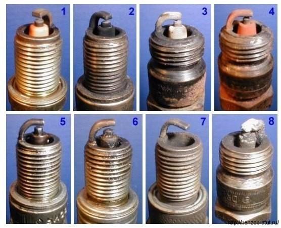 Диагностика двигателя по свечам