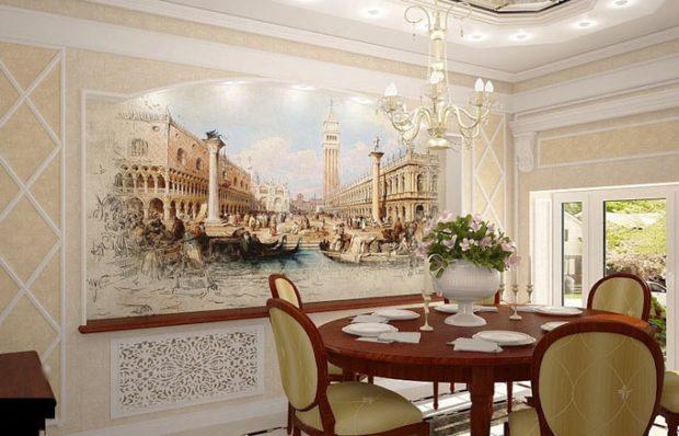 Фрески в интерьере: 8 советов по оформлению стен фресками + фото